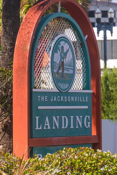 Jacksonville Landing, upscale downtown shopping and restaurant center in Jacksonville, Florida.