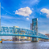 Main Street Bridge over the St Johns River in downtown Jacksonville, Florida.