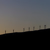 Silhouette of Windmills on the island of Maui in Hawaii.