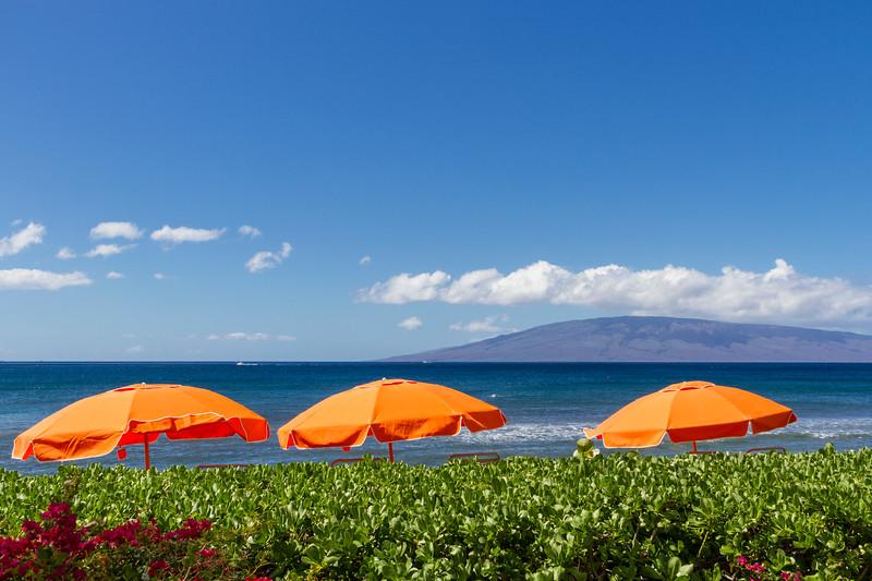 Hyatt Regency luxury hotel and resort on Kaanapali Beach on the west coast of the island of Maui in Hawaii.