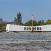 USS Arizona memorial at Pearl Harbor on Oahu in Hawaii, a graveyard for the men lost aboard the ship when it sank during the Pearl Harbor attack and a stark reminder of the cost of war.