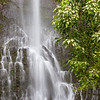 Wailua Falls is just past mile marker 45 on the Road to Hana on the island of Maui in Hawaii.