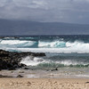 Wind and crashing waves on west coast of the island of Maui in Hawaii.