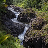 Seven sacred pools or Ohe'o Gulch on the road to Hana on the island of Maui in Hawaii.