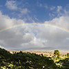 Rainbow on island of Maui in Hawaii.