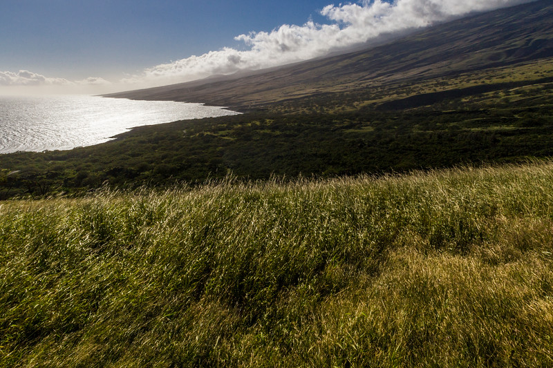 """Views from the back """"Road to Hana"""" or Pi'ilani Highway, a rugged, mostly unpaved road along the southeastern coast of Maui in Hawaii."""