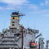 Ship maintenance and support at Joint Base Pearl Harbor Hickam - both naval and air force bases combined - on Oahu in Hawaii.