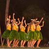 Dancers at Old LaHaina Hawaiian Luau on Maui in Hawaii.