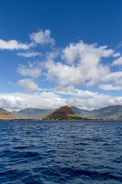Northwest coastline of Oahu island in Hawaii.