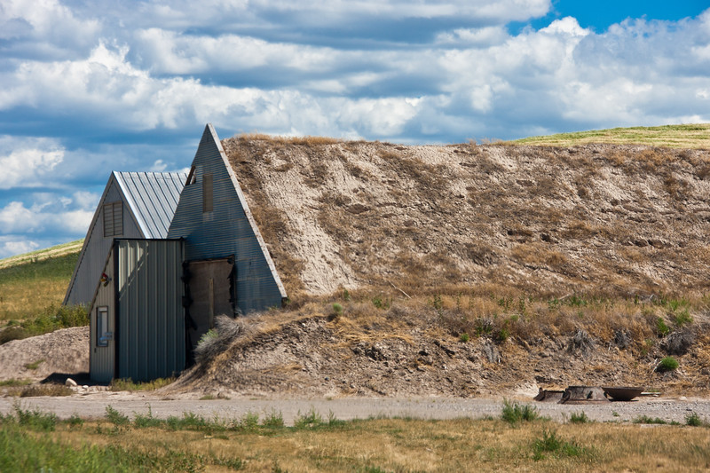 Quonset Hut Potato Storage Cellar In Southeastern Idaho. Cellars Built For  The Storage Of Large