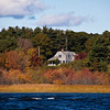 Autumn Color on the Kennebec River in Maine.