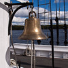 Bell on 2-Masted Sailing Schooner at the Maine Maritime Museum in Bath, Maine. The Museum houses both an incredible shipbuilding museum and a lighthouse lover's boat tour down the Kennebec River. The Shipbuilding museum is full of active demonstrations.