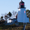 Burnt Island Lighthouse in Booth Bay Harbor on the Atlantic Coast of Maine was established in 1821. Unlike many lighthouses, Burnt Island Lighthouse has never been rebuilt. The four-foot thick walls at its base have given it the stability to withstand the elements, and it is the second oldest lighthouse structure in Maine, behind the Portland Head Light which was built in 1791.