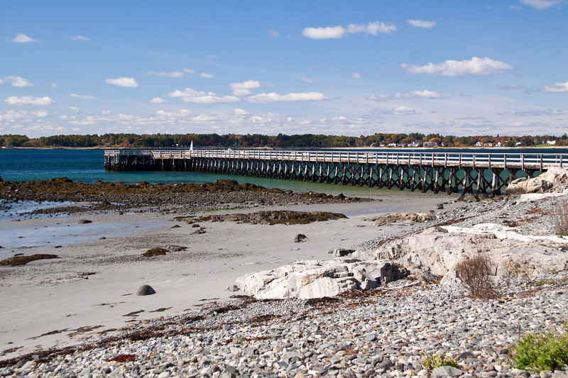 Abandoned Pier and Bridge, previously provided access to keeper's quarters for Whaleback Ledge Lighthouse in Kittery, Maine, just across the Piscataqua River from Portsmouth Harbor (New Hampshire).