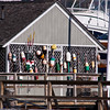 Lobster and Fishing Buoys at South Freeport Town Wharf and harbor area, South Freeport, Maine.