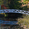"Autumn color at the Arched Bridge in Somesville, Maine, on the ""quiet side"" of Mount Desert Island near Southwest Harbor."