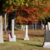 Autumn Color in Eastern Maine in October in a country cemetary.