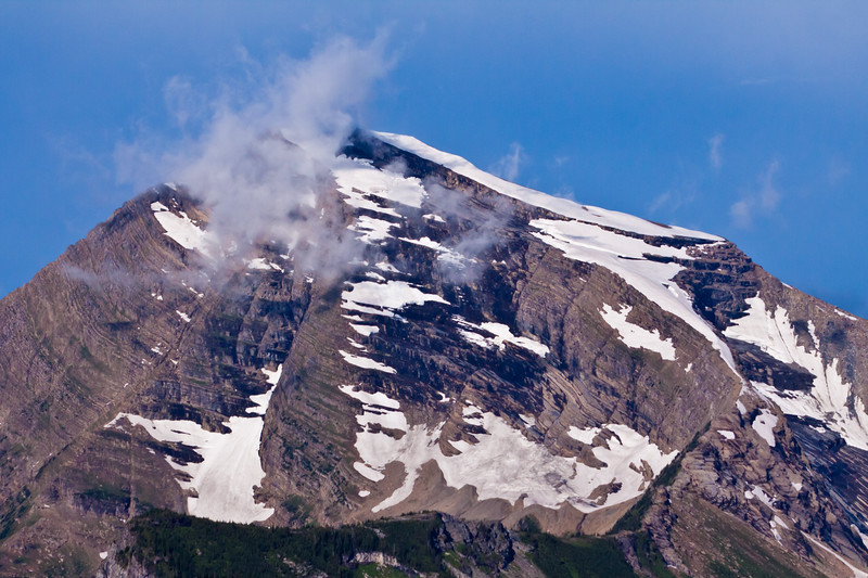 Mountains in Glacier National Park in Montana.
