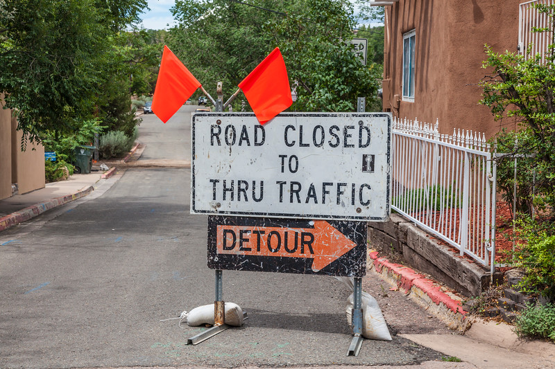 Road Detour Sign