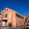 First Presbyterian Church in Santa Fe, New Mexico - oldest Protestant Church in New Mexico, founded 1867.