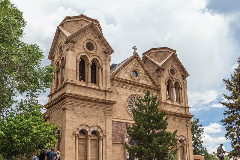 Saint Francis Cathedral, built in 1869 to replaced original church built in 1626, is the Catholic Cathedral of the Archdiocese of Santa Fe.