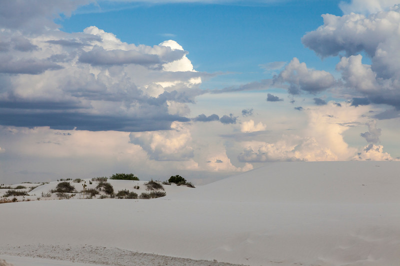 Ranger guided sunset walk at White Sands National Monument in New Mexico