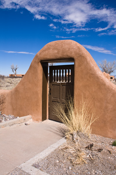 Ranger Station at White Sands National Monument in New Mexico. White Sands park is at the northern end of the Chihuahuan desert in a mountain-ringed valley called the Tularosa Basin.
