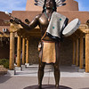 Statue at Indian Pueblo Cultural Center in Albuquerque, New Mexico.