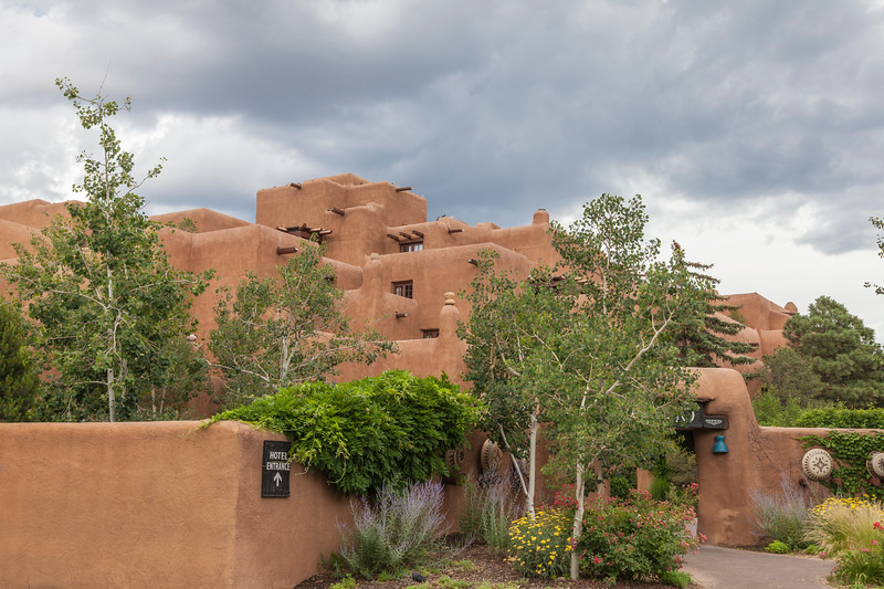 The old Loretto Academy school, built in 1853 and sold in 1971, is now the Inn & Spa at Loretto, a luxury spa and hotel, in Santa Fe.