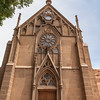 "Loretto Chapel in Santa Fe, home of the ""Miraculous Staircase"""