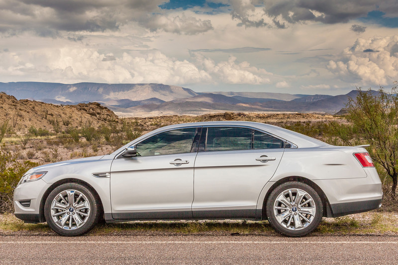 Ford Taurus in Big Bend National Park in September.