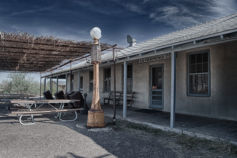 HDR of La Harmonica store at Castolon Historic District in Big Bend National Park.