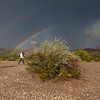 Rainbow after storm at Dugout Wells in Big Bend National Park.