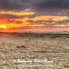 Windy sunrise on Galveston East Beach