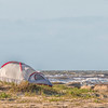 Camping Tents on Galveston East Beach.