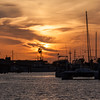 Sunset at Port Aransas Harbor, Port Aransas, Texas.