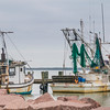 Commercial fishing boats at Texas City Dike.