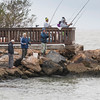 Cold, rainy day does not deter fishing from piers on Pelican Island.