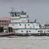 Tugboat and barge in Galveston Channel JN094428