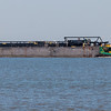 Tugboat and barge in Galveston Bay.
