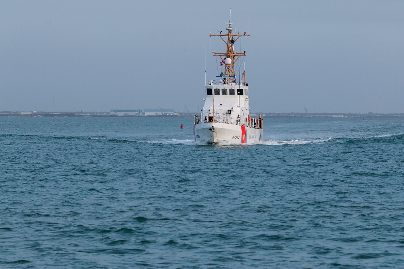 Coast Guard Boat in Aransas Pass National Wildlife Refuge.