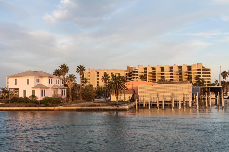Resort Hotels in Port Aransas Harbor, Port Aransas, Texas.