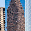 Heritage Plaza building in downtown Houston, with reflection of Bank of America building.