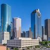 Skyscrapers in downtown Houston skyline.