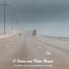 Galveston Island Causeway in rain and fog.