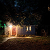 "B&B Cabin at night at Block Creek Natural Area in Central Texas. Example of ""painting with Light"" using flashlight."