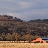Red Barn on ranch at Block Creek Natural Area, a coalition of conservation oriented ranchers in Central Texas.