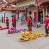 Lion Dance performance at Teo-Chew Temple in Houston, Texas.