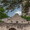 The Alamo, site of famous battle for Texas Independence from Mexico, in San Antonio.