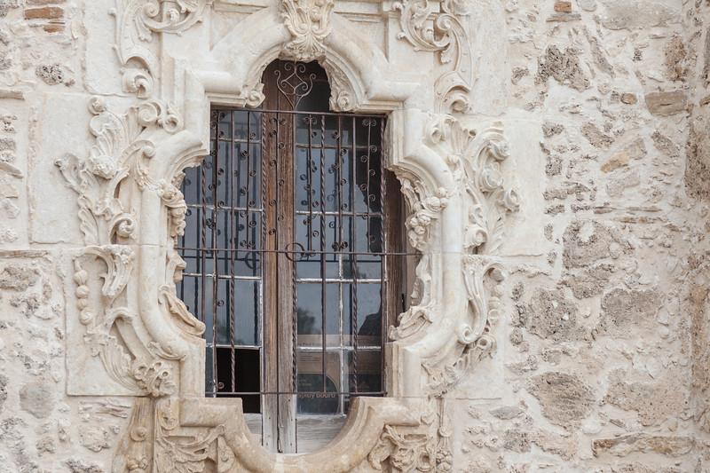 Rose Window at Mission San Jose in San Antonio